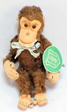 Berg Austria Rare Plush Bear Toy 1940's Monkey original hang tag