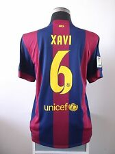 XAVI #6 BNWT Barcelona Home Football Shirt Jersey Final Game 2015 (L)