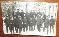 ANCIENNE PHOTO CP WWI . GROUPE DE SOLDATS ALLEMANDS