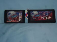 NEW ENGLAND PATRIOTS TriFold Wallet & Checkbook Set NEW