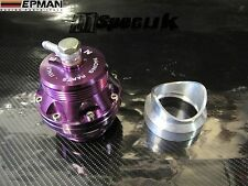 EPMAN UNIVERSAL PURPLE 50mm BLOW OFF VALVE WELD ON ADAPTER BOV TURBO JDM
