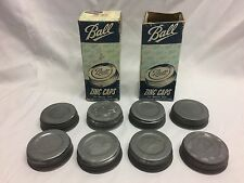 Vtg Lot 20 NOS BALL Zinc Caps Porcelain Lined Canning Mason Jar Lids w Boxes NEW