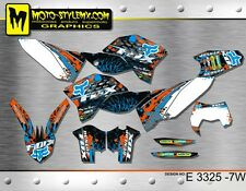 KTM EXC 125 200 250 300 450 530 sticker graphics kit 2008 up to 2011