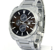 POLICE WATCH MEN 'MILANO' MULTIFUNTION 44mm STAINLESS STEEL PL-14099JS/12M