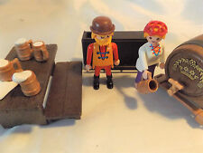 PLAYMOBIL Beer Keg, Mugs, Bar Tender for Knight Castle, Western Saloon, Pirates