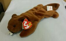 Ty Beanie Baby BUCKY 1995 4th Gen Heart & tush tag w/extra tush tag*New/Retired