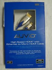 AUVIO High-Speed HDMI w/ Ethernet to Micro HDMI Cable 5-ft 3D 1080P 24K 1500371