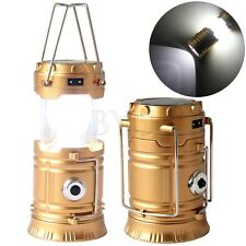 Collapsible Solar Outdoor Rechargeable Camping Lantern LED Hand Lamp US-Plug
