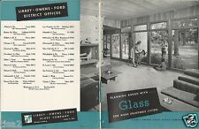 1949 LIBBEY OWENS FORD Glass Residential Home Ideas Kitchen 30pg Vintage Catalog