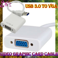USB 3.0 to VGA Video Graphic Card Display External Cable Converter Adapter