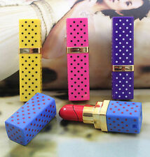 Womens Love Dot Pattern Lipstick Refillable Butane Cigar Cigarette Flame Lighter