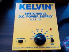 KELVIN AC TO DC SWITCHABLE POWER SUPPLY 1.5 - 12 VDC 1.5 Amp