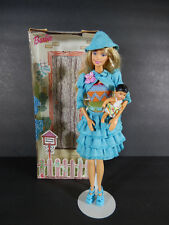 BARBIE DOLL WHITE SWAN HOTEL GOING HOME ADOPTION #5 IN BLUE #1642