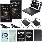 Stand PU Leather Case Cover Micro USB Keyboard w/ Stylus for 7'' 8'' inch Tablet