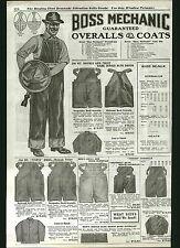 1922 ADVERT Boss Mechanic Blue Jeans Denim Work Pants Stifel Wabash Stripe Duck