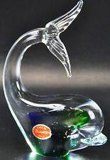 Murano Glas Wal Fisch Venetian Figur Italo Fish Figure Glaskunst Tier 03-D-MB