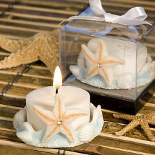 40 - Starfish Design Candle -  Beach Themed Wedding Favors - Free US Shipping