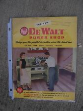 1955 DeWalt  Power Shop Saw Promo Catalog MORE POWER TOOL ITEMS IN OUR STORE  U