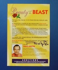 THEATRE FLYER BEAUTY AND THE BEAST SIGNED BY DAVID GRIFFIN [ HI DI HI ]