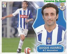QUIQUE ALVAREZ ESPANA RC.RECREATIVO STICKER LIGA ESTE 2009 PANINI