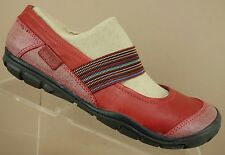Keen Rivington Red Leather Elastic Mary Jane Loafer Sport Flat Shoe Womens 7