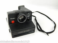 Polaroid Pronto Land Camera SX-70 Film, Black w/ Strap Ships Quick from USA