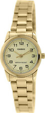 Casio Women's Analog Quartz Gold Tone Stainless Steel Watch LTP-V001G-9B