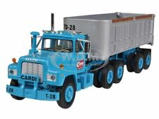 MACK R MODEL BLUE WITH END DUMP TRAILER 1/64 FIRST GEAR 60-0244