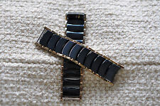 rado jubile diastar watch ceramic two tone black/gold 1 complete full link 12mm