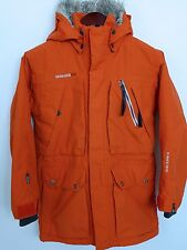 FB974 Men Didriksons Storm System Orange Waterproof Jacket Size S