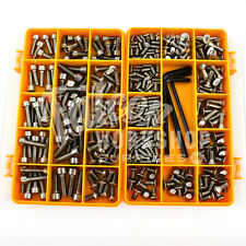 343 PIECE BOLTS & SCREWS BIKE CYCLE KIT - A4 'NO RUST' STAINLESS STEEL M4 M5 M6