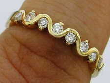 R108- Genuine SOLID 18K 18ct Gold Natural DIAMOND Wedding, Eternity Ring size O