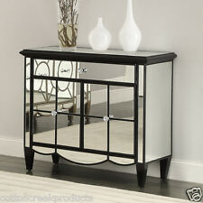 Storage Cabinet Chest Mirrored Accent Table Console Buffet Living Room Dining