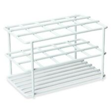 Wire Test Tube Rack, 17mm dia, Holds 15 Tubes, White - Karter Scientific 212I2