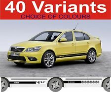 skoda octavia side stripes octavia rs vrs 40 variants
