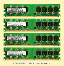 Desktop RAM 8GB 4x 2GB PC2-6400U NonECC DDR2 800MHz Low Density Memory FIT 5300U