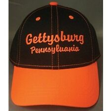 GETTYSBURG PENNSYLVANIA BLACK NEON ORANGE CAP HAT NEW
