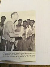 c9-2 ephemera 1957  picture stanley matthews tour of ghana hearts of oak
