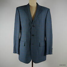 Yves Saint Laurent Herren-Sakko Business-Sakko Schurwolle blau-karo Gr.98 TOP