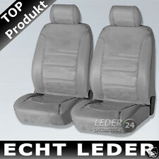 2x ECHT- LEATHER GREY SEAT COVERS BMW E46