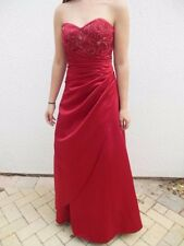 HOLIDAY ALEXIA DESIGNS  RED EMBROIDERED  Long Evening Gown Sz 2 PARTY STRAPLESS