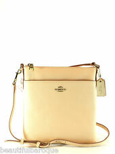 Coach 52348 Apricot Embossed Textured NS Swingpack Leather Crossbody Handbag NWT