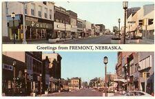 Fremont Nebraska street scene Postcard - vintage circa 1970's - unused - Pauls