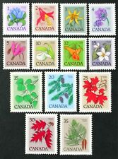 D1225 CANADA 1977-1978 set of 13 stamps, Flowers, Trees Mint NH