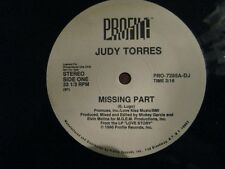 "Judy Torres Missing Part Profile Records PRO-7285A-DJ Stereo 12"" LP 33-1/3 RPM"