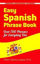 Learning Spanish Book s Language Easy Phrase Study Guide Paperback New Edition