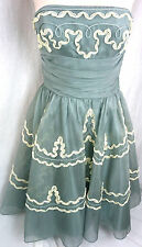 Betsey Johnson Evening Bustier Formal Prom Tea Tulle Dress Size 2 Small S 0 1