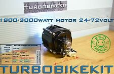 Waterproof Turbo Brushless Electric Motor 1800w-3000watt 24volt, 48v,60v, 72volt