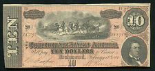T-68 1864 $10 Ten Dollars Csa Confederate States Of America Uncirculated