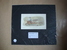 Genuine Hand Coloured Antique Print of Hussey's American Reaper. by Anon